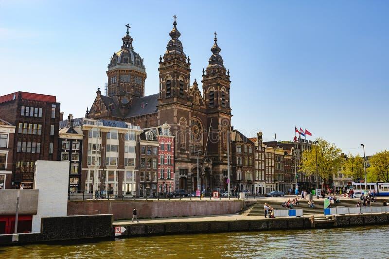 Basiliek van Sinterklaas, Amsterdam stock foto