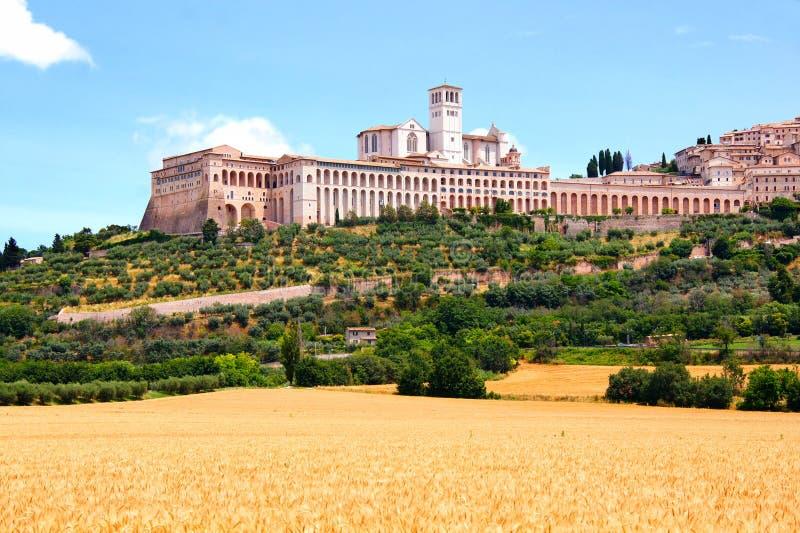 Basiliek van St Francis, Assisi royalty-vrije stock afbeelding