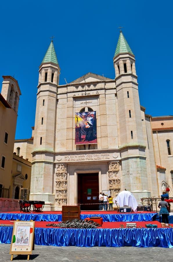 Basiliek van St Rita van Cascia stock afbeeldingen