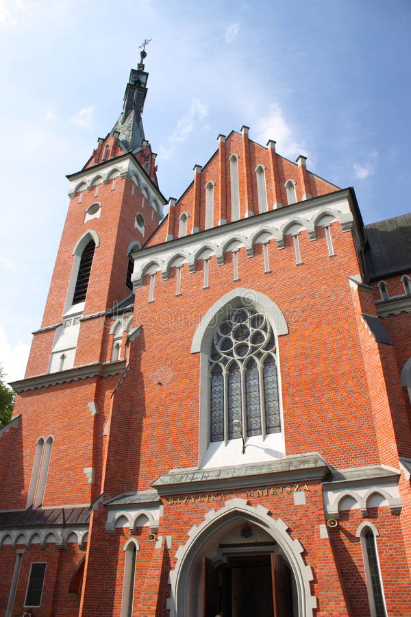 Basiliek van St Wojciech in… wolnica WÄ royalty-vrije stock afbeeldingen