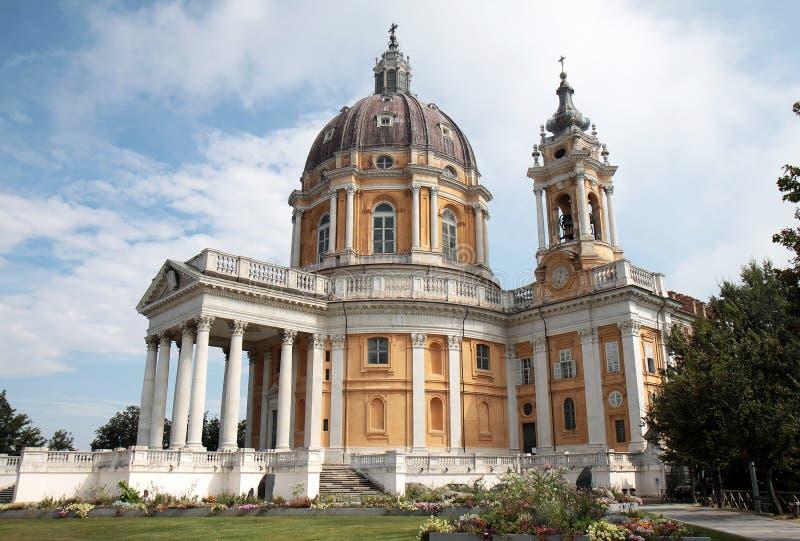 Basiliek van Superga dichtbij Turijn in Italië stock foto