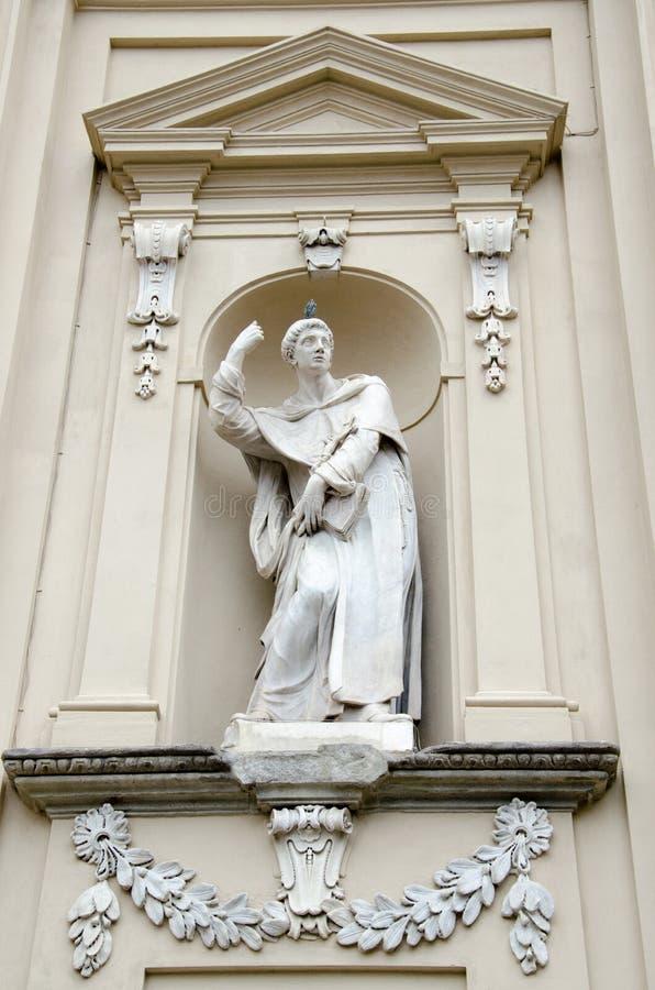 Basiliekdella Santissima Annunziata is een Rooms-katholieke minder belangrijke basiliek in Florence, Itali?, de moederkerk van de royalty-vrije stock afbeeldingen