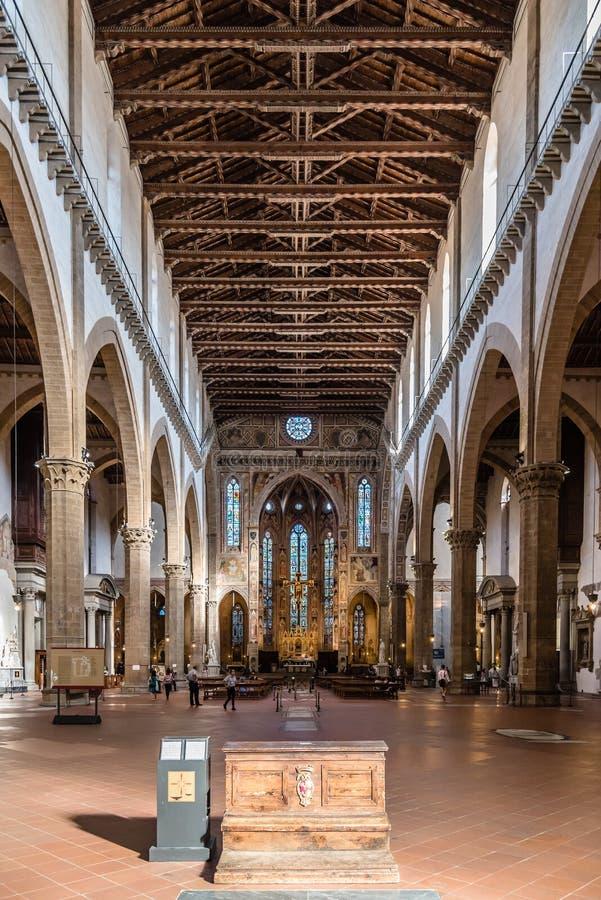 Basiliekdi Santa Croce in Florence stock afbeeldingen