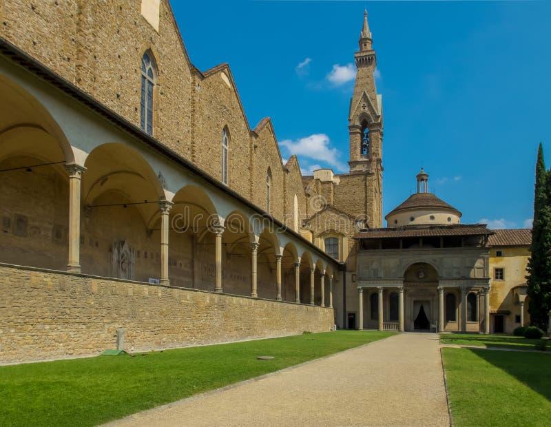 Basiliekdi Santa Croce. Florence, Italië royalty-vrije stock afbeelding