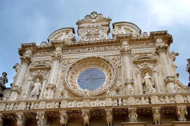 Basiliekdi Santa Croce, Kerk van het Heilige Kruis, Lecce, Apulia, Italië royalty-vrije stock foto