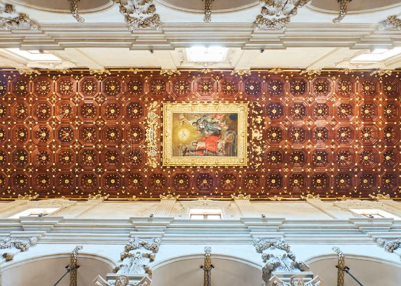 Basiliekdi Santa Croce van Lecce Puglia, Italië stock foto's