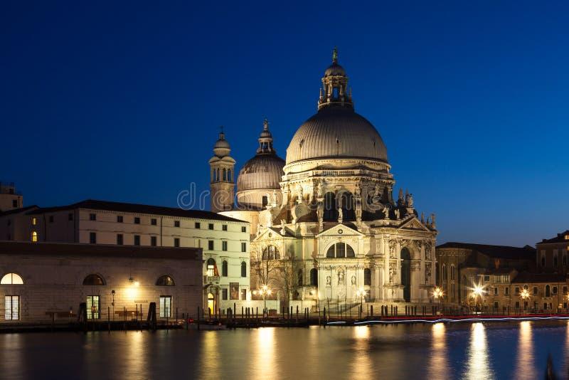 Basiliekdi Santa Maria della Salute, Grand Canal, Venetië, Italië stock fotografie