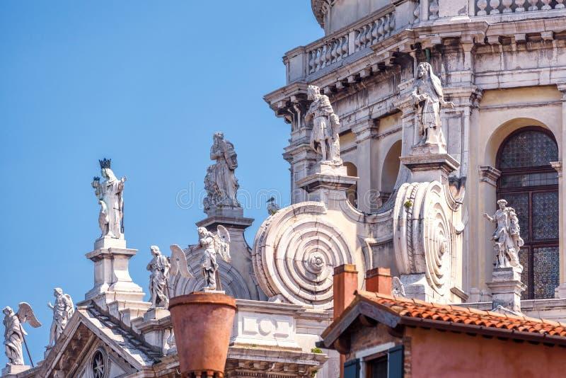Basiliekdi Santa Maria della Salute in Venetië, Italië royalty-vrije stock afbeeldingen
