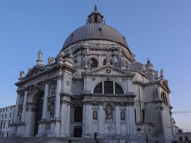 Basiliekdi Santa Maria della Salute in Venetië, Italië stock afbeelding
