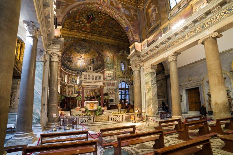 Basiliekdi Santa Maria in Trastevere royalty-vrije stock foto's