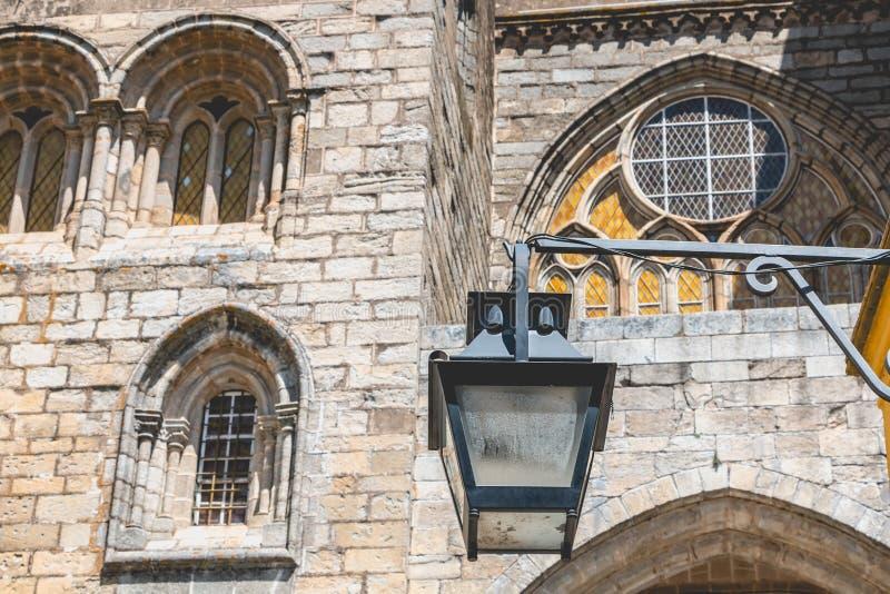 Basiliekkathedraal Onze Dame van de Veronderstelling van Evora stock afbeeldingen