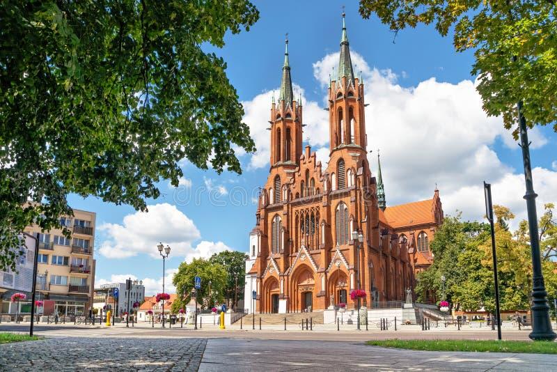 Basilika av antagandet av den jungfruliga Maryen i Bialystok, Pola arkivfoto