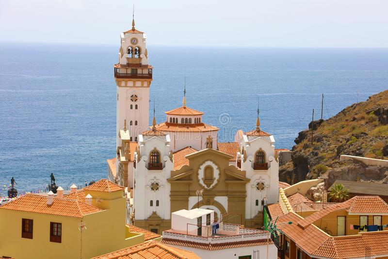 Basilika av Candelaria, Santa Cruz de Tenerife, kanariefågelöar, Spanien royaltyfria foton