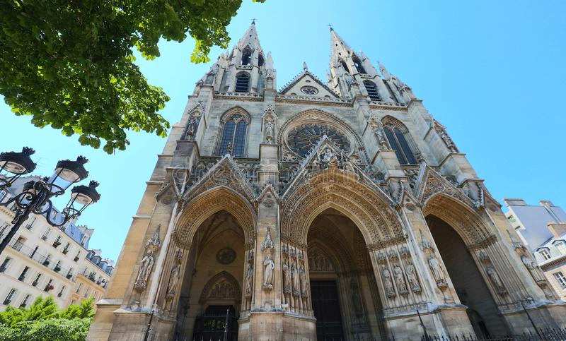 Basilika av helgonet Clotilde, Paris, Frankrike royaltyfri bild