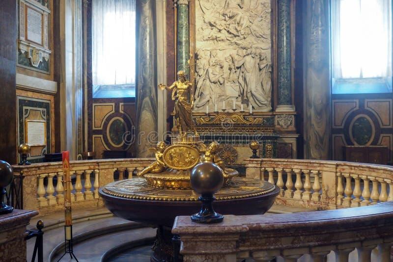 Basilika av helgonet Mary Major i Rome, Italien arkivbild