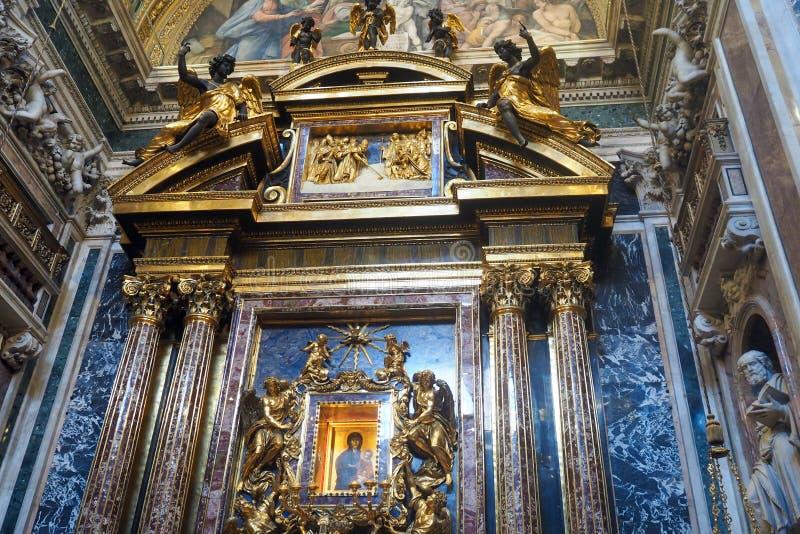 Basilika av helgonet Mary Major i Rome, Italien arkivfoto