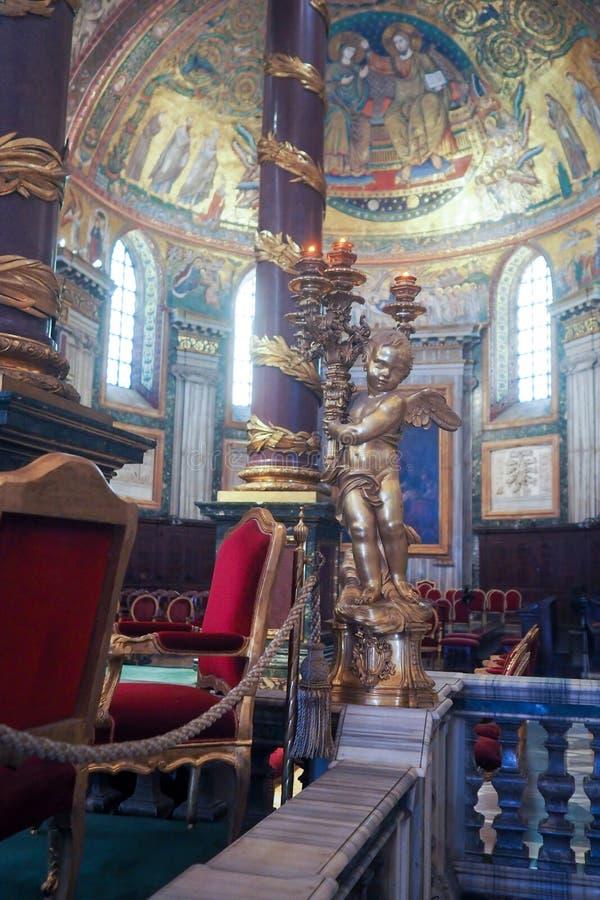 Basilika av helgonet Mary Major i Rome, Italien arkivbilder