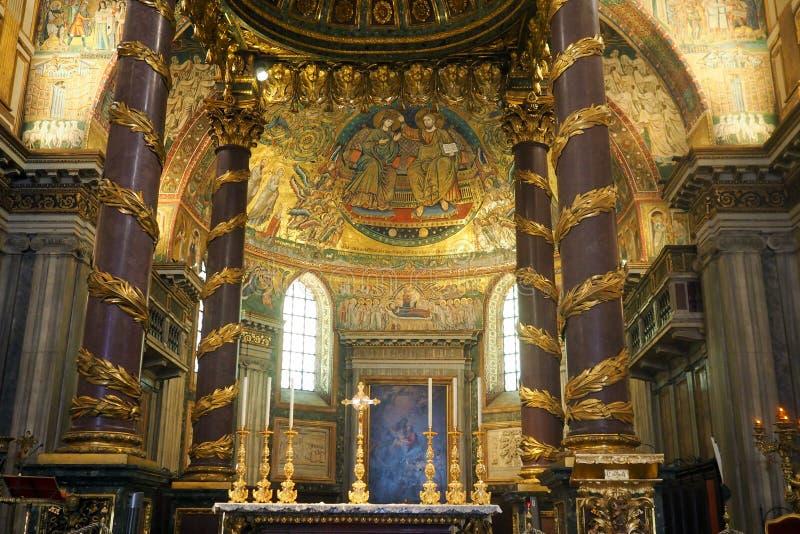 Basilika av helgonet Mary Major i Rome, Italien royaltyfria foton