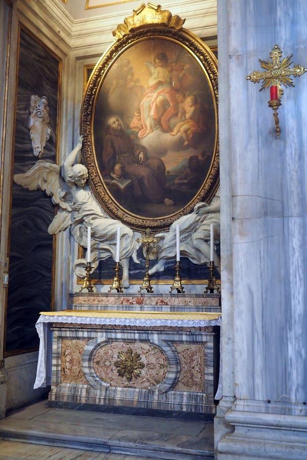 Basilika av helgonet Mary Major i Rome, Italien royaltyfri bild