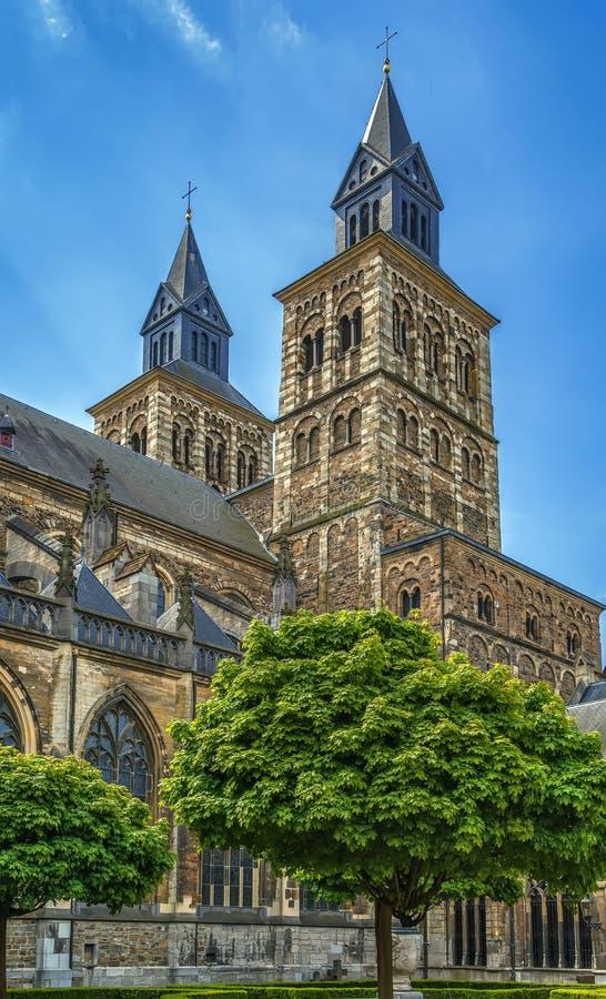Basilika av helgonet Servatius, Maastricht, Nederländerna arkivbild