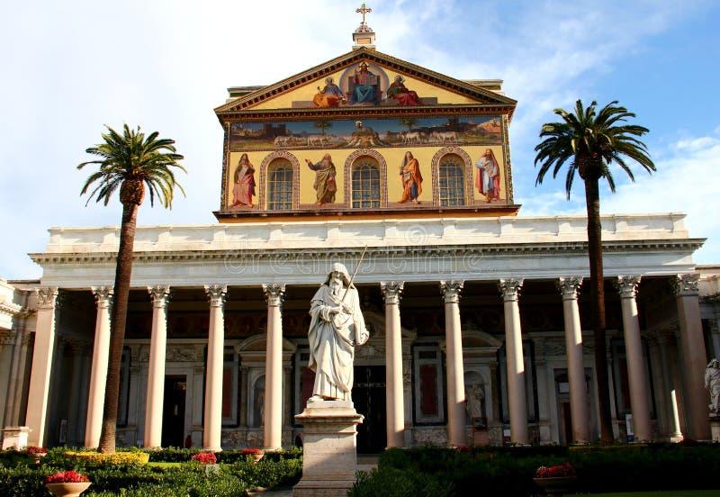 Basilika av Saint Paul utanför väggen, Rome, Italien fotografering för bildbyråer