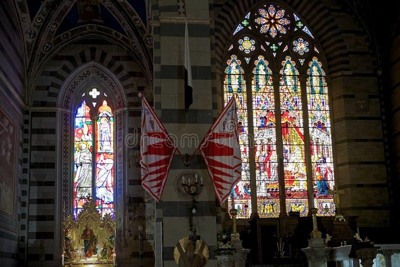 Basilika av San Francesco, Siena, Tuscany, Italien fotografering för bildbyråer