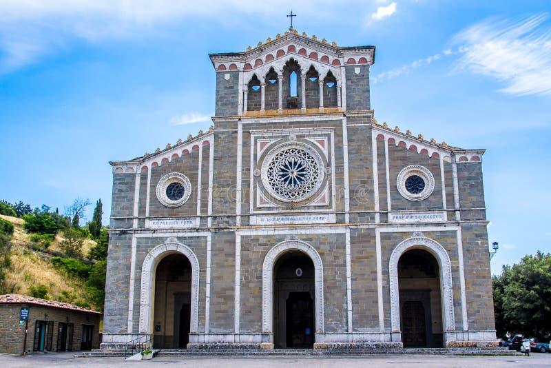Basilika av Santa Margherita i Cortona, Italien arkivfoton