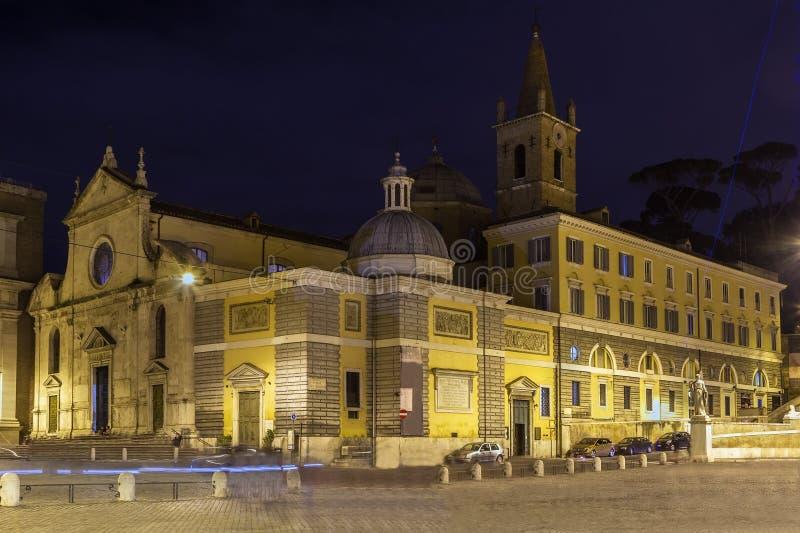 Basilika av Santa Maria del Popolo, Rome royaltyfria bilder