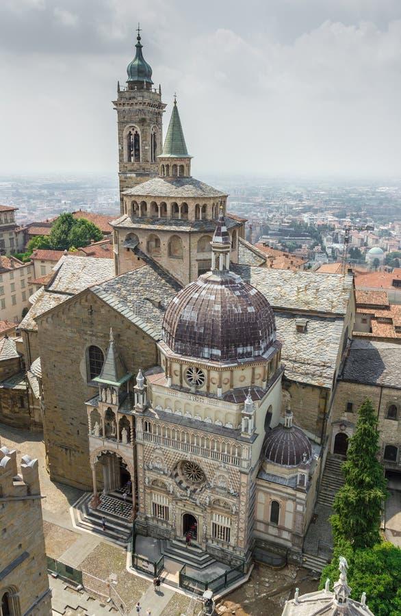 Basilika av Santa Maria Maggiore i Bergamo royaltyfri fotografi