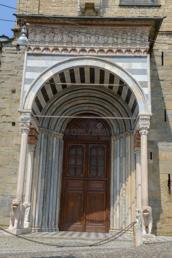Basilika av Santa Maria Maggiore i Bergamo på Italien royaltyfri foto