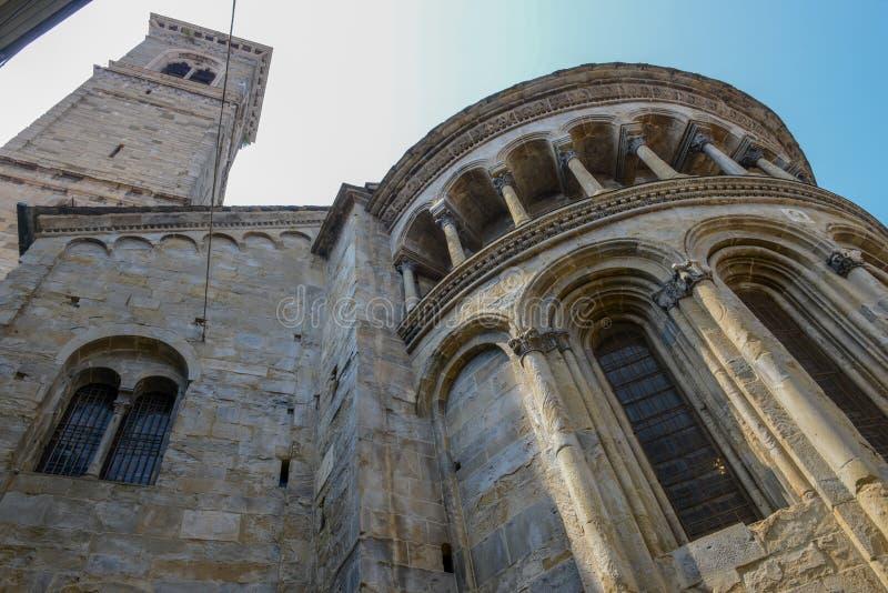 Basilika av Santa Maria Maggiore i Bergamo på Italien royaltyfria bilder