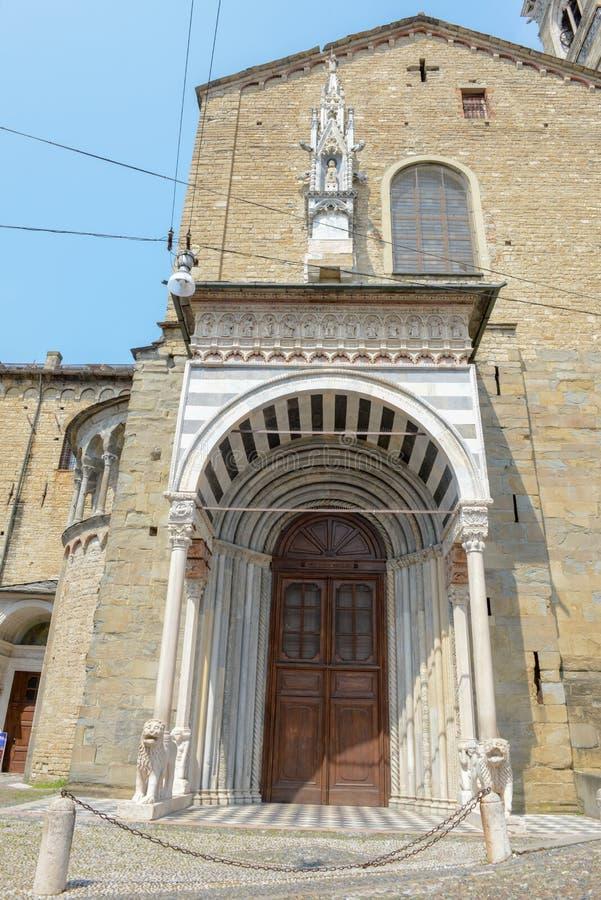 Basilika av Santa Maria Maggiore i Bergamo på Italien royaltyfri bild