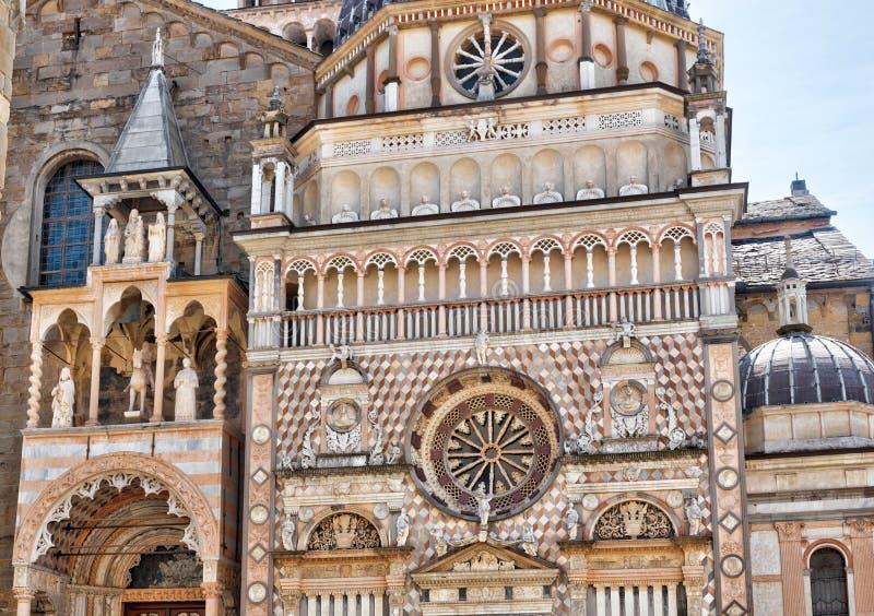 Basilika av Santa Maria Maggiore i Citta Alta i Bergamo, Italien royaltyfri foto