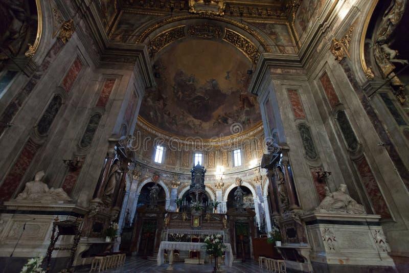Basilika av Santissima Annunziata i Florence arkivbild