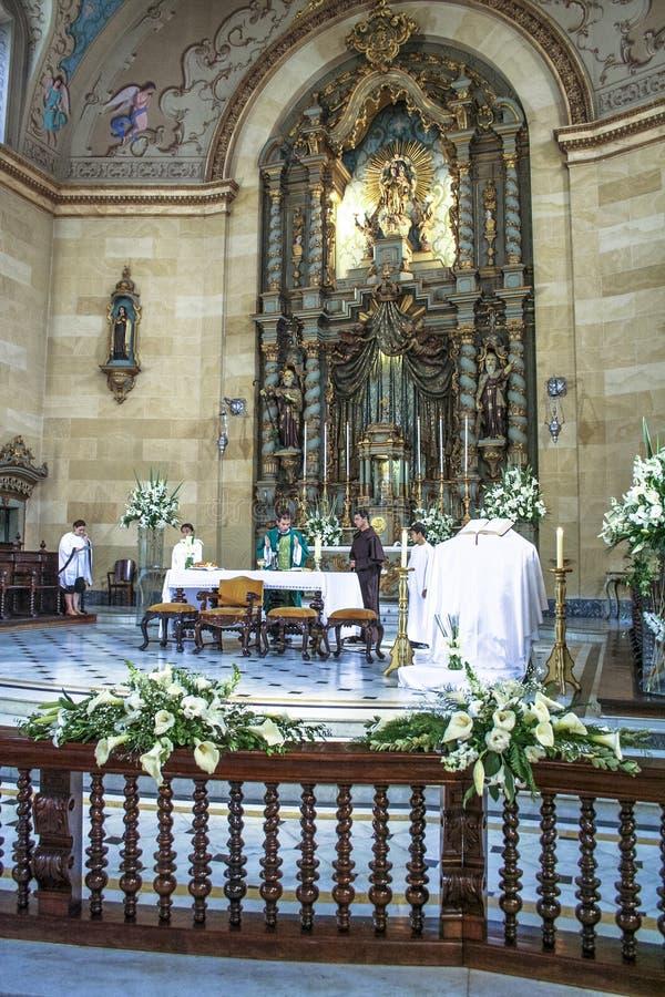 Basilika av vår dam av Carmo fotografering för bildbyråer