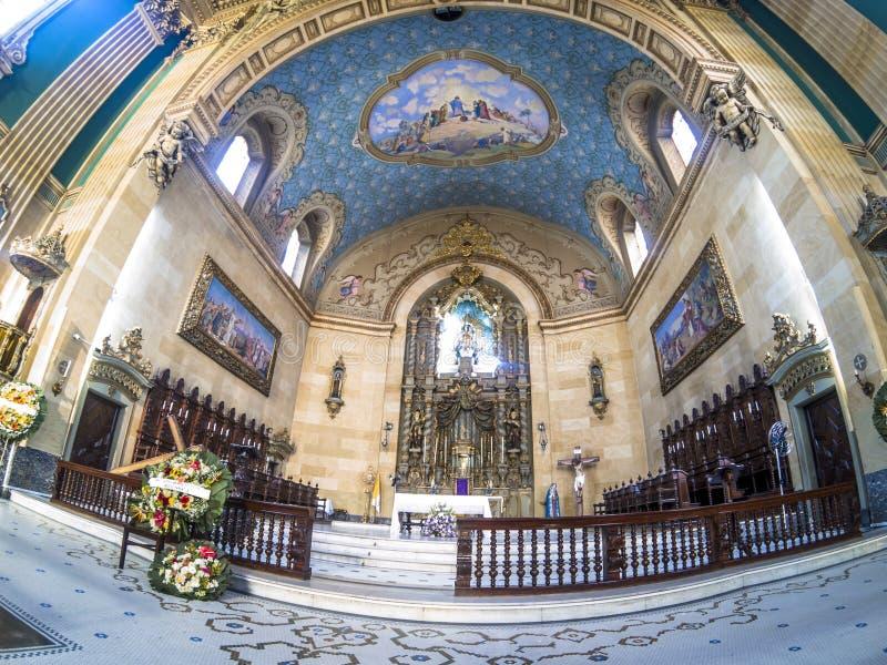 Basilika av vår dam av Carmo royaltyfri bild