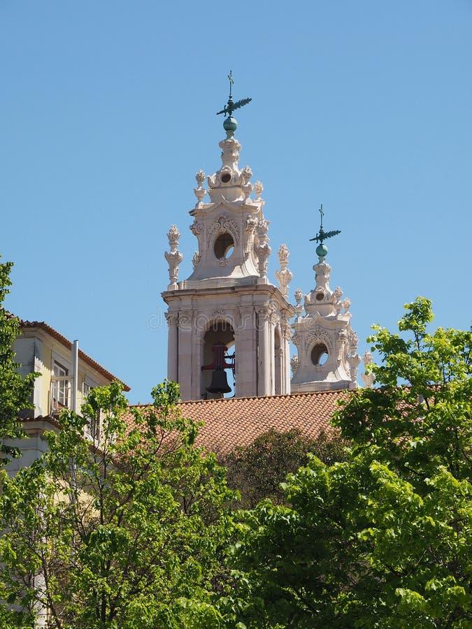 Basilika da Estrela i Lissabon fotografering för bildbyråer