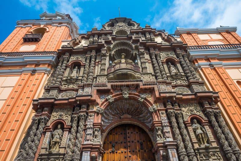 Basilika de Nuestra Senora de la Merced, Lima, Peru royaltyfri fotografi