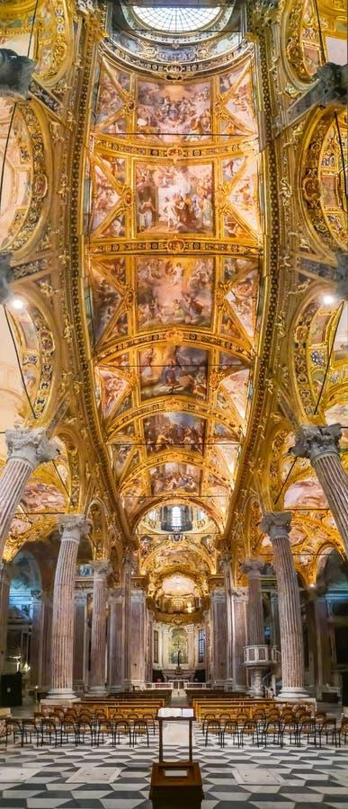 Basilika della Santissima Annunziata del Vastato, Genua, Italien stockbild