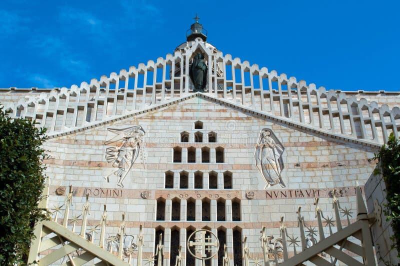 Basilika der Ankündigung in Nazaret, Israel stockfotos