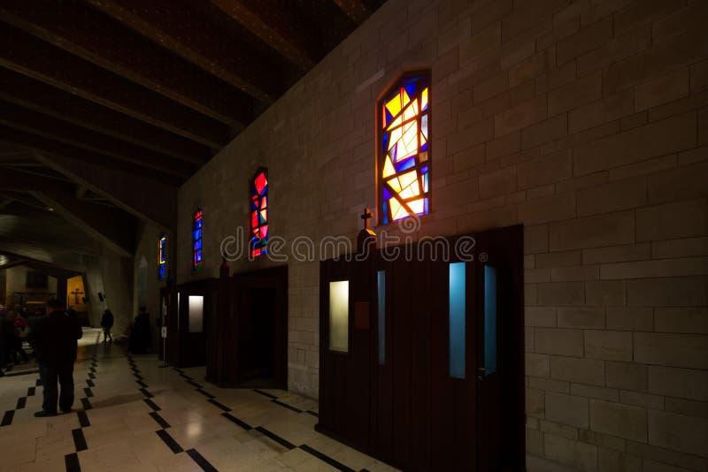 Basilika der Anzeige in Nazareth stockbild