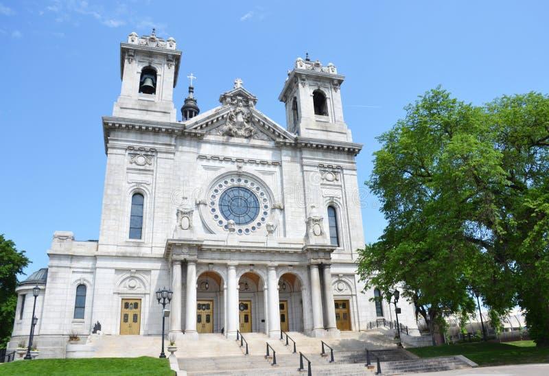 Basilika der Heiliger Maria in Minneapolis, Mangan lizenzfreie stockfotografie