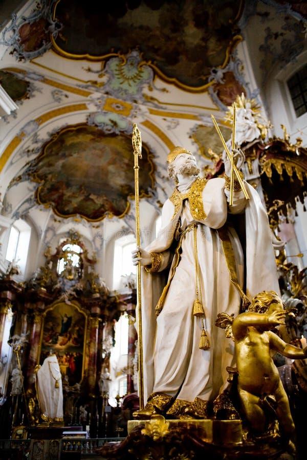 Basilika der vierzehn heiligen Helfer stockbilder