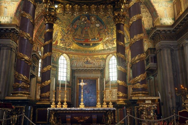 Basilika des Heiligen Mary Major in Rom, Italien lizenzfreies stockbild
