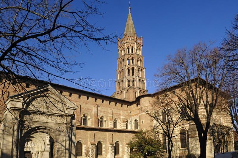 Basilika des Heiligen Sernin in Toulouse, lizenzfreie stockfotografie