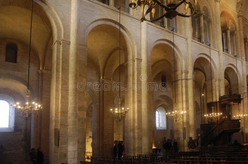 Basilika des Heiligen Sernin in Toulouse, stockfotografie