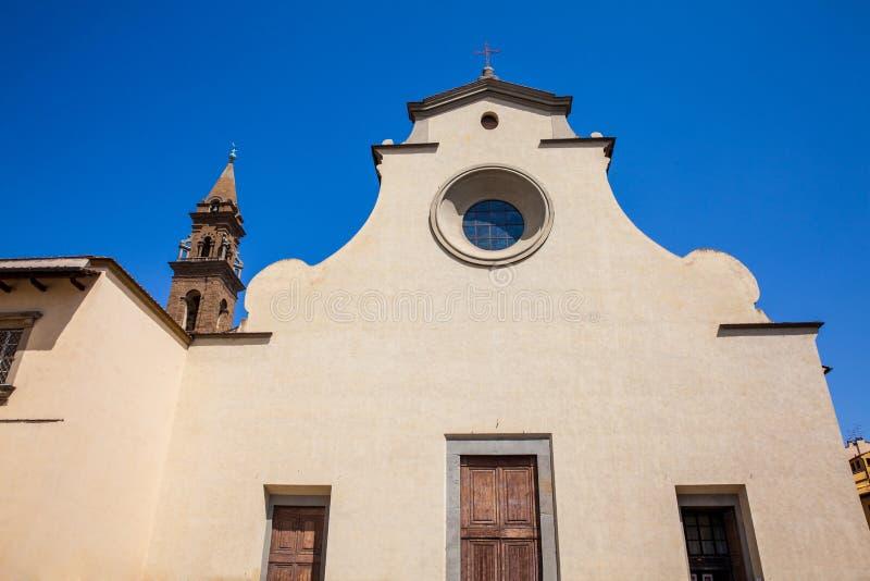 Basilika des Heiliger Geist errichtete 1487 in Florenz stockbild