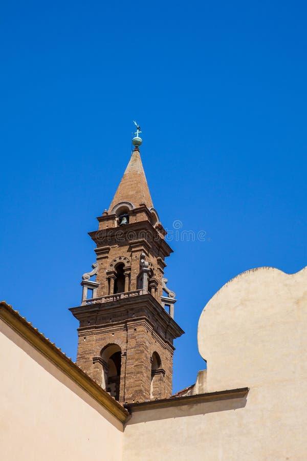 Basilika des Heiliger Geist errichtete 1487 in Florenz lizenzfreie stockfotos