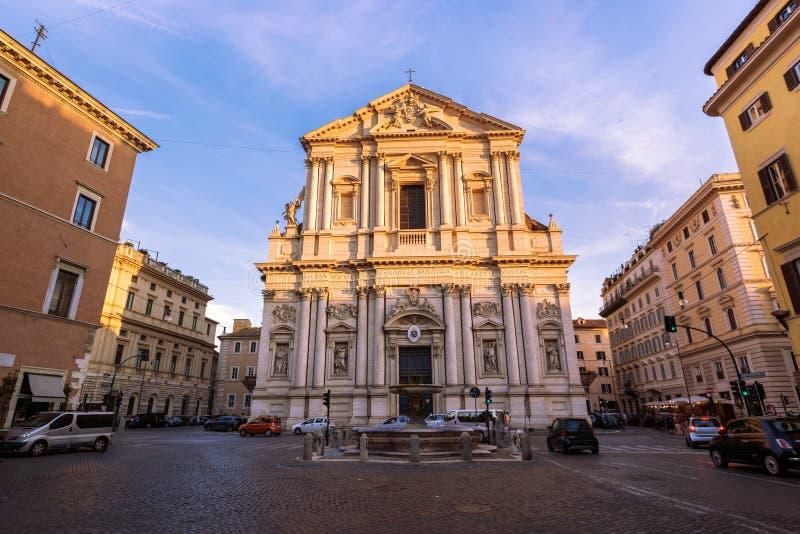 Basilika di Sant Andrea della Valle arkivfoton