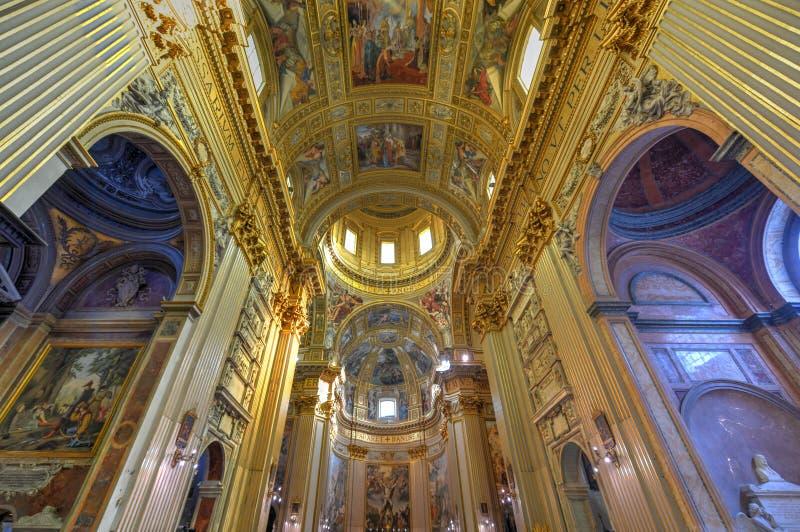 Basilika di Sant Andrea della Valle - Rome, Italien arkivfoton